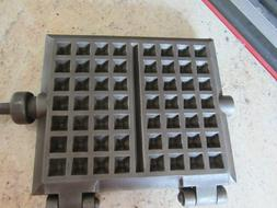 """Cast Iron Waffle Maker Overall 25"""" Long, Square Part 8"""" Tall"""