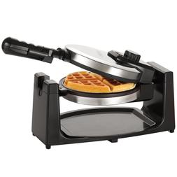Classic Rotating Belgian Waffle Maker Non-Stick Polished Sta