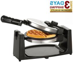 Classic Rotating Non-Stick Belgian Waffle Maker with Removea