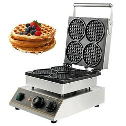 Commercial Electric Mini Round Waffle Maker Baker 50~300℃