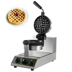 Commercial Electric Rotating Round Waffle Maker LED Light 50