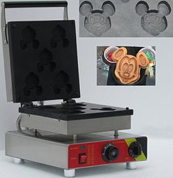 three pcs mickey minnie mouse shape belgian waffle maker/ co