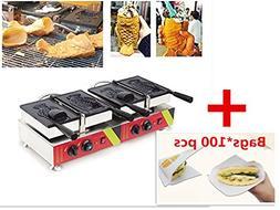 Commercial Non-stick Soft Ice Cream Fish Waffle Machine Waff