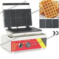 Commercial Nonstick Electric Mini Square Belgian Waffle Make