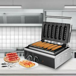 Commercial Waffle Maker Hot Dog Machine Lolly shape 6pcs 150
