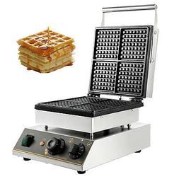 Commercial Square Belgian Waffle Maker Machine Waffle Baker