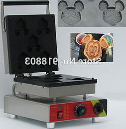 5pcs Commercial Use Non-stick 110v 220v Electric Mickey Mous