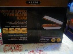 Bella Copper titanium Belgian waffle maker...1000 watts..rot