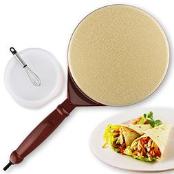 DULPLAY Crepe maker,Crepe maker pan,Electric griddle machine