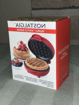 "CUTE ""MyMini Waffle Maker"" Brand new by Nostalgia. Red. 5''"