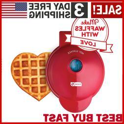 Dash Mini Maker Machine for Heart Shaped Individual Waffles