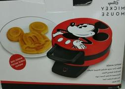 Disney DCM-12 Mickey Mouse Red Waffle Maker-Never Used!! OPE