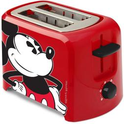 Disney Dcm-21 Mickey Mouse 2 Slice Toaster, Red/Black, 1