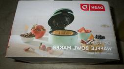 Dash Deluxe waffle bowl maker  aqua color Brand new in box