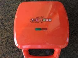 """BABY-CAKES """"DELUXE"""" WAFFLE MAKER ~ NEW ~ ORANGE ~ MAKES 10 W"""