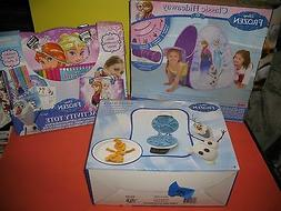 DISNEY FROZEN WAFFLE MAKER  - OLAF , TENT AND ACTIVITY TOTE