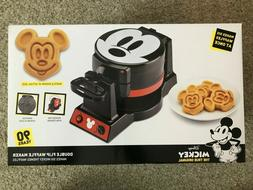 Disney Mickey Mouse Double Flip Waffle Maker Mini 90th Anniv