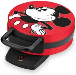 New Disney DCM-12 Mickey Mouse Waffle Maker, Red