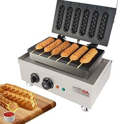 Hot Dog Waffle Maker Commercial 6 PCS Lolly French Hotdog mo