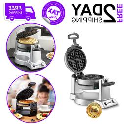 Double Belgian Waffle Maker For Kitchen Home Nonstick Coatin