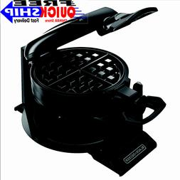 DOUBLE BELGIAN WAFFLE MAKER Rotating Non Stick Cook Round Wa