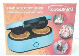 Brentwood Double Waffle Bowl Maker Blue TS-1402BL