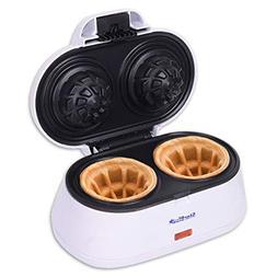 Double Waffle Bowl Maker by StarBlue - White - Make bowl sha