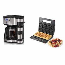 Proctor Silex Dual Belgian-Style Waffle Maker + Hamilton Bea