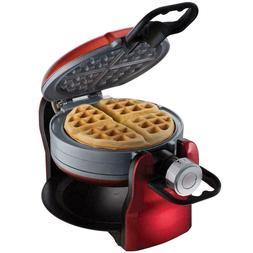 DuraCeramic Titanium Infused Double Flip Waffle Maker Makes
