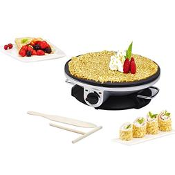 Health and Home No Edge Crepe Maker - 13 Inch Crepe Maker &