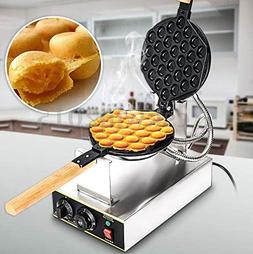 Cocoarm Egg Waffle Maker,Stainless Steel Rotated Nonstick El