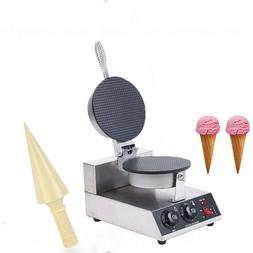 Electric  Commercial 110v Nonstick Ice Cream Waffle Cone Bak