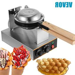 VEVOR Electric Egg Waffle Maker 110V Bubble Waffles maker 14