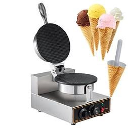 Mophorn 1000W 110V Electric Ice Cream Waffle Cone Egg Roll M