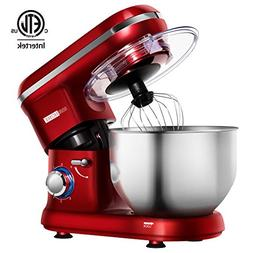 VIVOHOME Electric 650W 6-Speed Tilt-Head Stand Mixer with 6