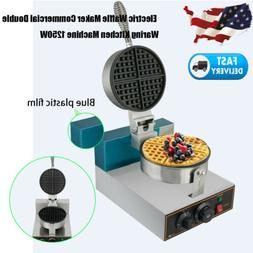 Electric Waffle Maker Breakfast Kitchen Commercial Double Ir