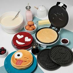 Emoji Waffle&Pancake Maker Interchangeable Plates Waffles Or