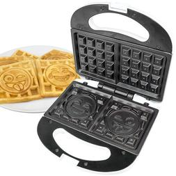 Emoji Waffle Maker 2 Slice Iron Makers Small Kitchen Applian