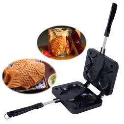 Fish Shaped Waffle Pan Maker Non Stick Bakeware Dual Mold Ho