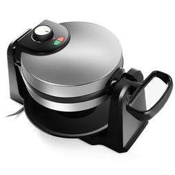 Flip Belgian Waffle Maker Non Stick Stainless Steel with Rem