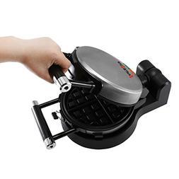 Health and Home Flip Waffle Maker, Rotate Waffle Maker, Blac