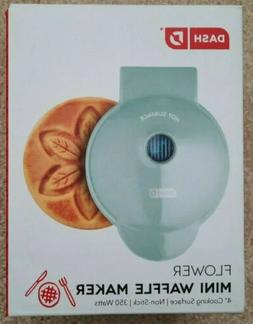 "Flower Waffle Maker Mini 4"" Electric Small Kitchen Appliance"