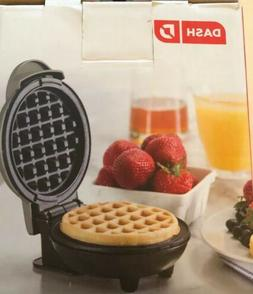 Dash Footed Ceramic Mini Waffle Maker 4 Inch Cooking Surface