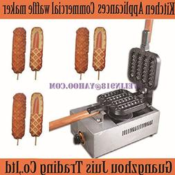 4 pieces GAS commercial Lolly waffle maker machine hot dog m