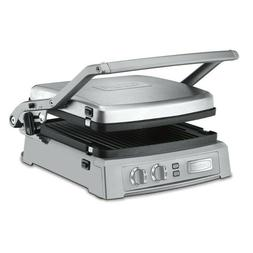 Cuisinart GR-150 Griddler Deluxe Panini Press Grill -Brushed