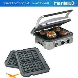 Cuisinart GR-4N 5-in-1 Grill Griddler Panini Maker Bundle w/
