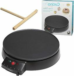 Griddle Crepe Maker Pancake French Hot Plate Commercial Elec