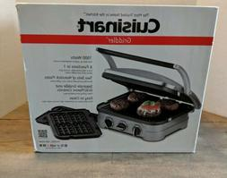 Cuisinart Griddler GR-4NW 6 in 1 Griddle Grill Panini Waffle