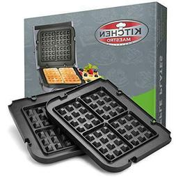 Kitchen Maestro Griddler Waffle Plates for Cuisinart Griddle