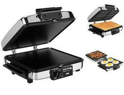 Grilled Sandwich Maker Press Toaster Breakfast Waffle Remova